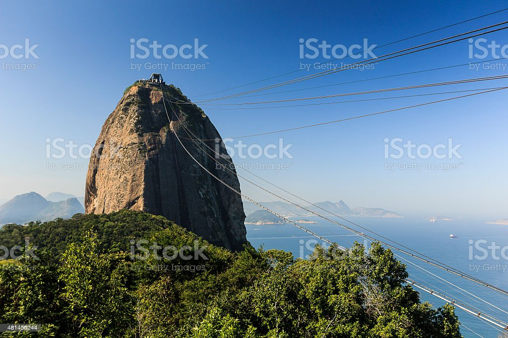 Sugar Loaf Mountain in Clear Sunny Day stock photo