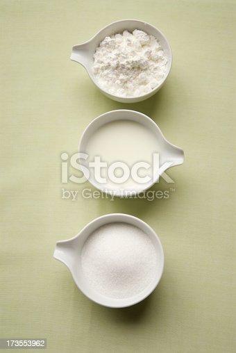 Sugar, milk and flour