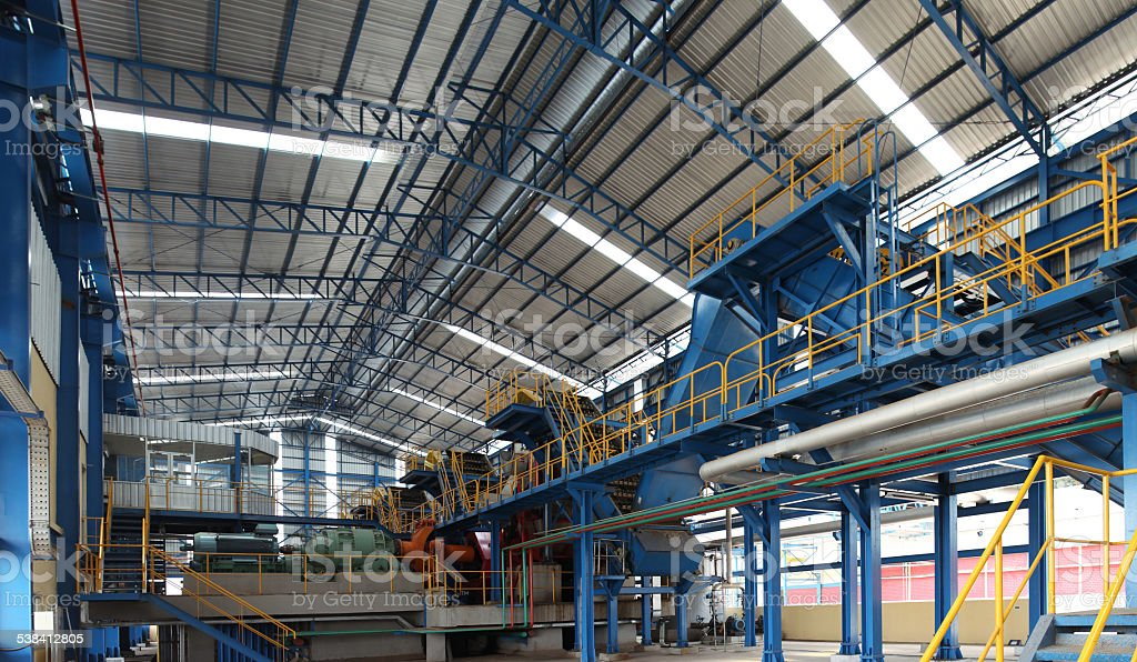 Sugar mill factory stock photo