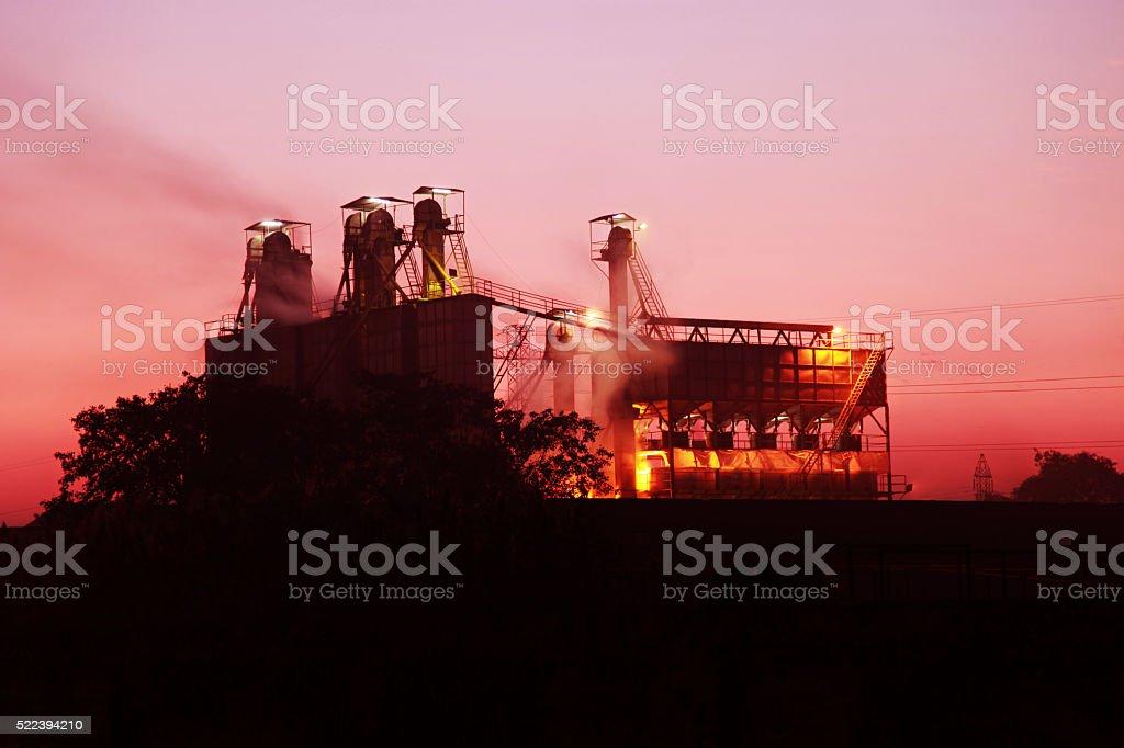 Sugar mill Industry stock photo