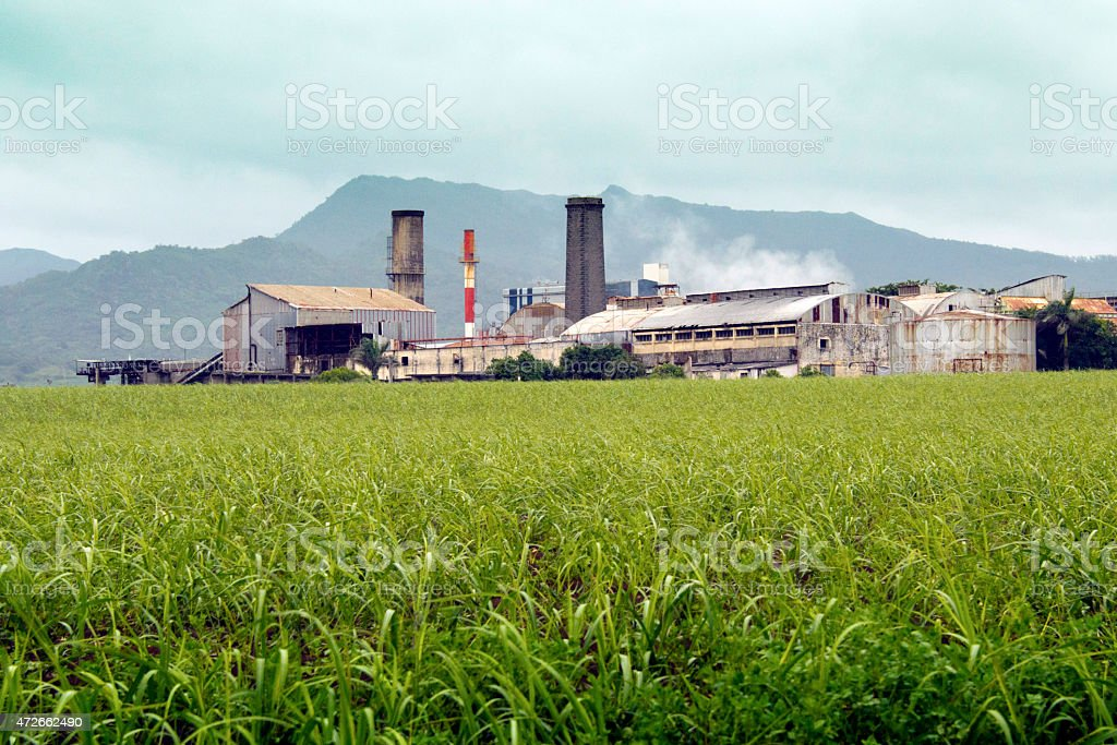 Sugar mill stock photo
