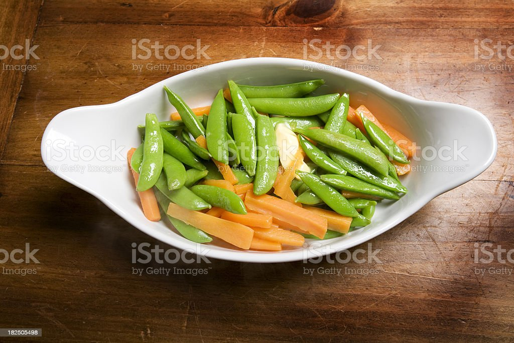sugar peas and carrots royalty-free stock photo