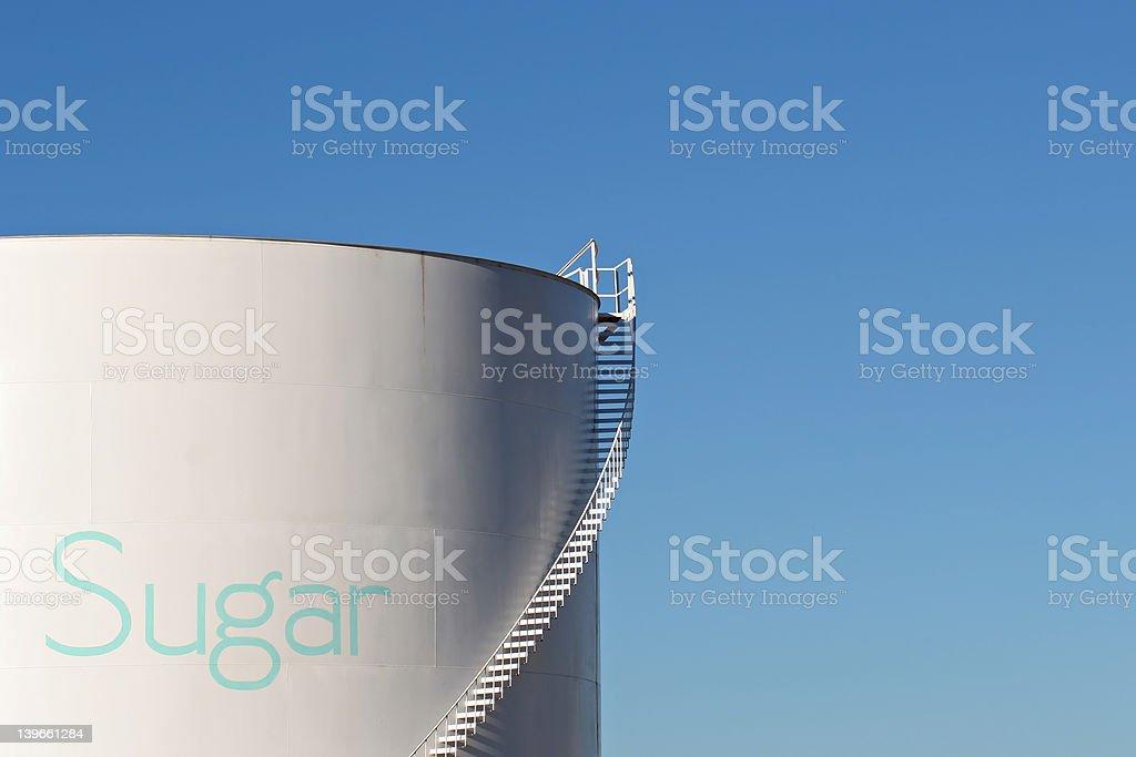 sugar silo stock photo