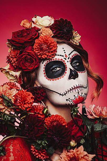 Sugar skull creative make up for halloween picture id488220564?b=1&k=6&m=488220564&s=612x612&w=0&h=iithzooymhrxlspiiffez6kdl meyyga ih7n7w6z o=