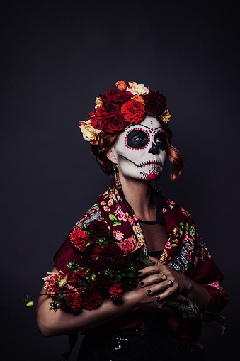 Sugar skull creative make up for halloween