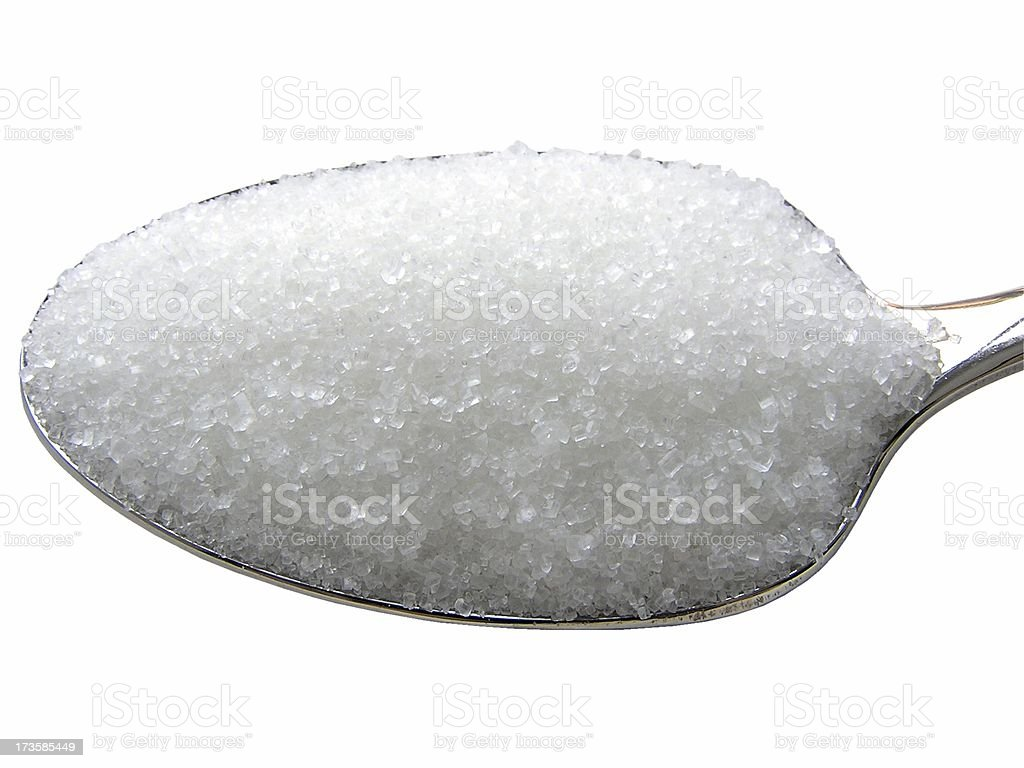 Sugar spoon top stock photo