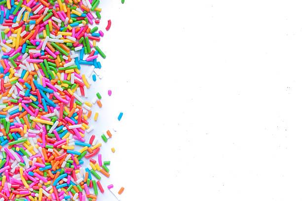 rozsypać zawartość cukru w kropki, dekoracja ciasto i bekery - posypka zdjęcia i obrazy z banku zdjęć