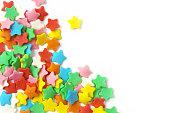 砂糖の散水星形, 多色