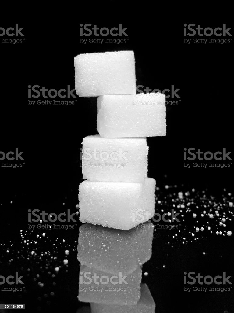 Sugar stack stock photo