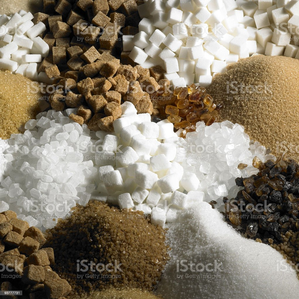 sugar still life stock photo