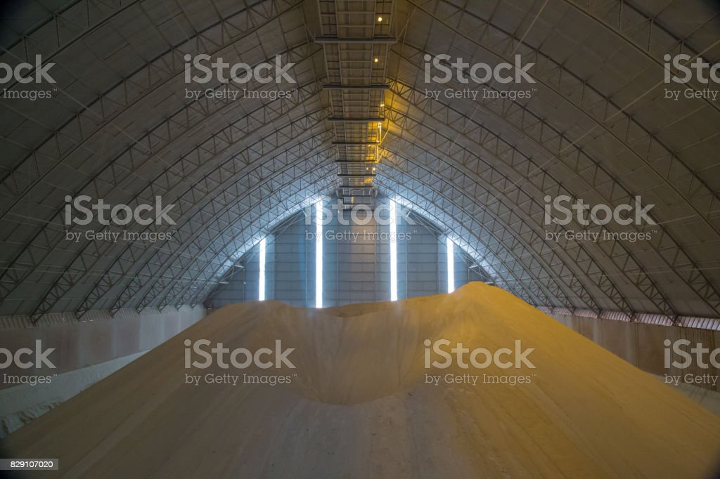 sugar storange industry factory stock photo