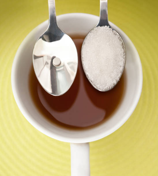 sugar substitutes - sweeteners stock photos and pictures