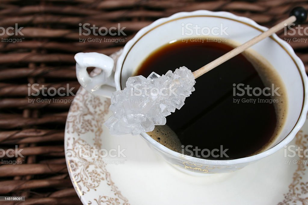 Sugar with Coffee royalty-free stock photo