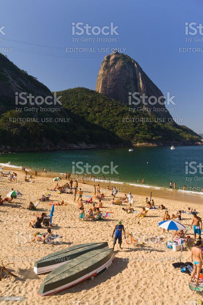 Sugarloaf and beach stock photo
