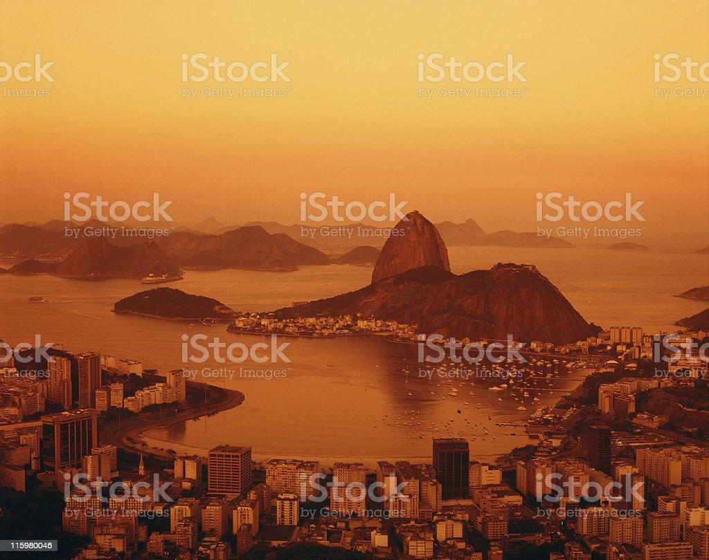 Sugarloaf and Botafogo Beach in Rio de Janeiro royalty-free stock photo