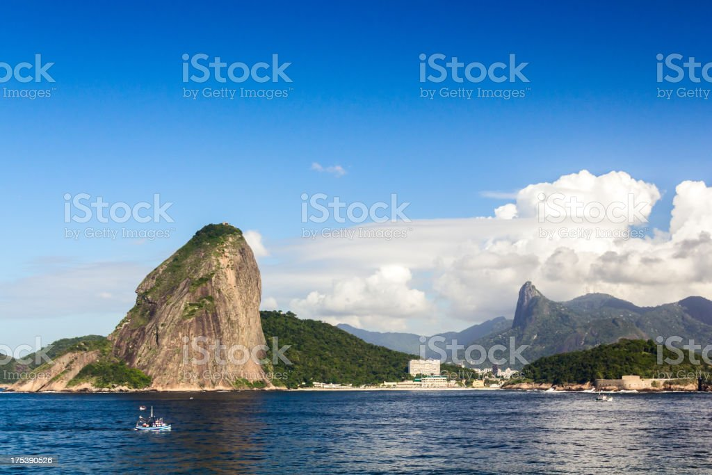 Sugarloaf and Corcovado royalty-free stock photo