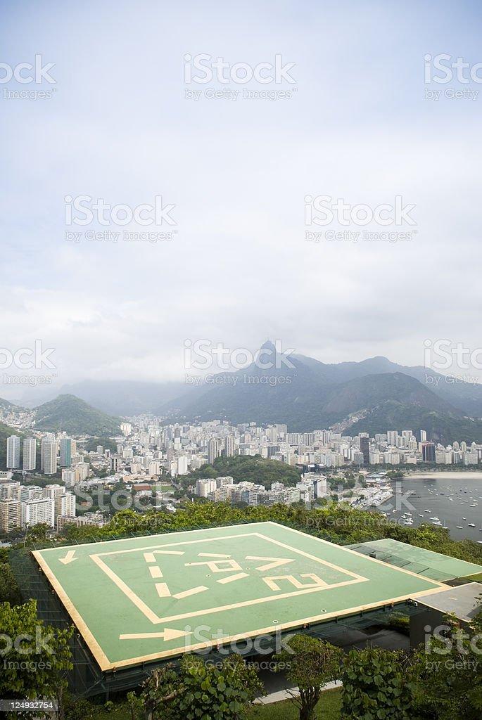 Sugarloaf Mountain helipad, Rio de Janeiro, Brazil royalty-free stock photo