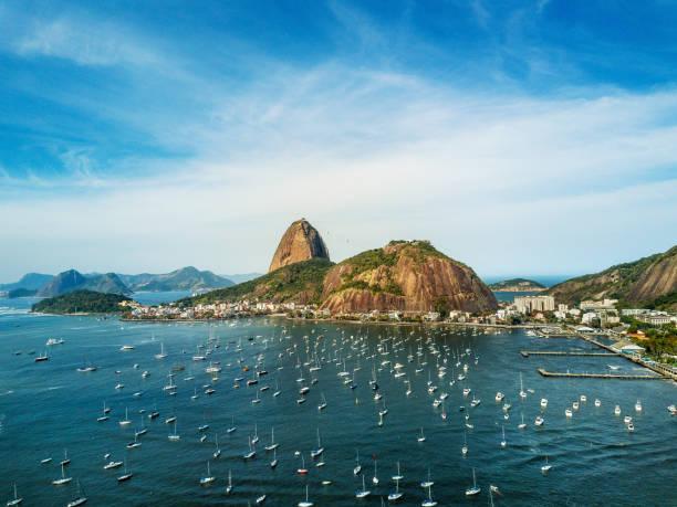 Montaña de Sugarloaf en Rio de Janeiro, Brasil - foto de stock