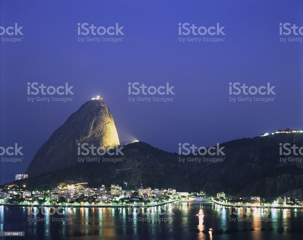 Sugarloaf Mountain in Rio de Janeiro royalty-free stock photo