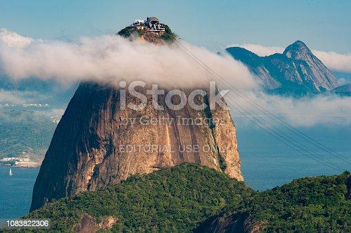 Sugarloaf Mountain - the Landmark of Rio de Janeiro City - Under the Cloud.
