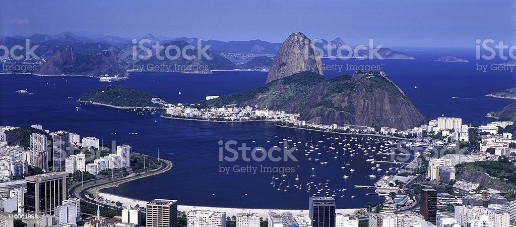 Sugarloaf panoramic format royalty-free stock photo