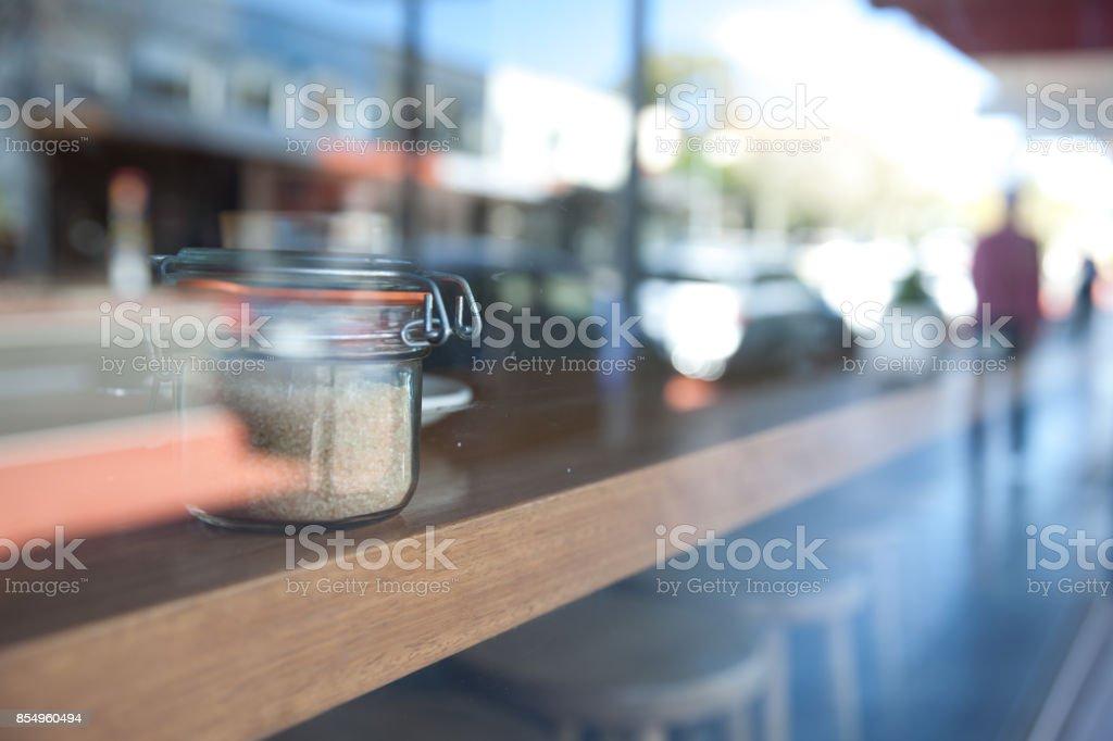 Suger pot stock photo