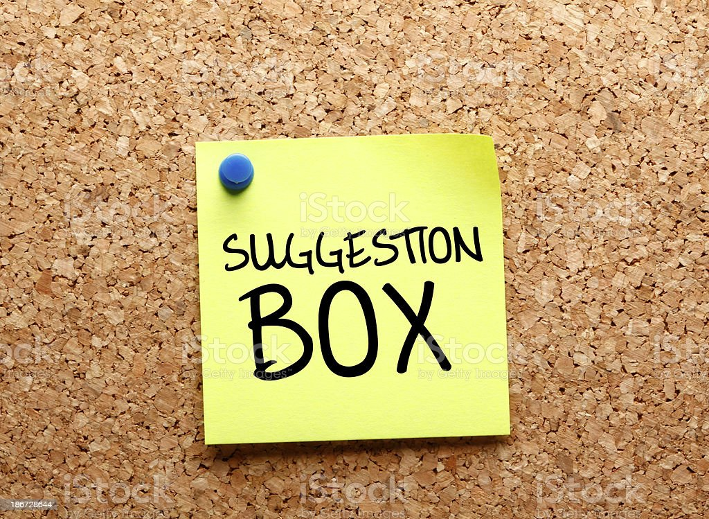 Suggestion Box stock photo