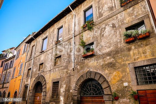istock A suggestive alley in the heart of the medieval quarter of Viterbo in central Italy 1304316507