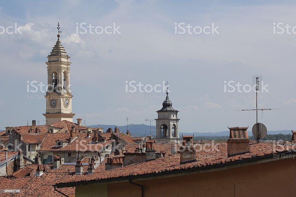 Sui tetti di Ivrea royalty-free stock photo