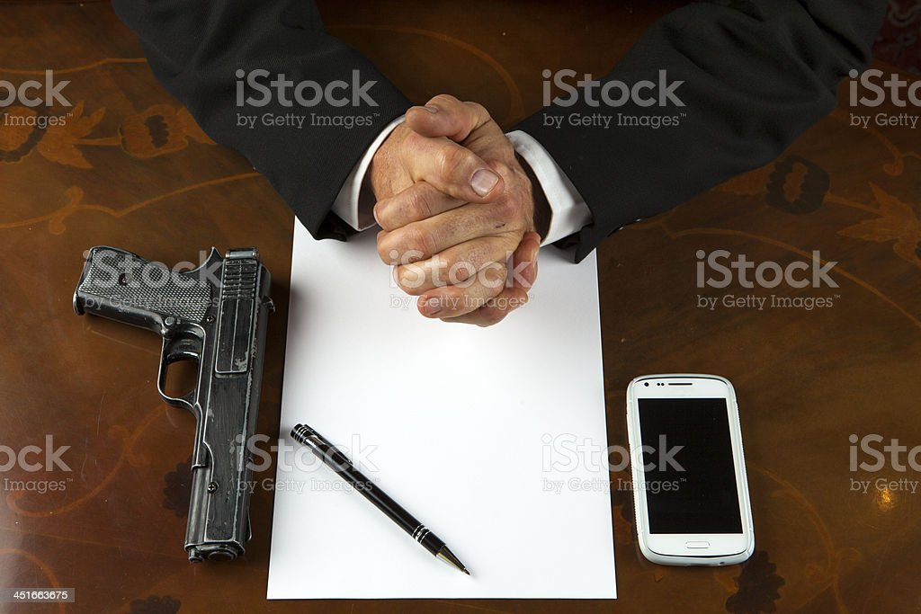Suicide and Last Will stock photo