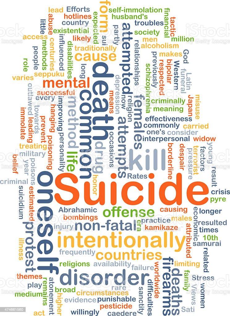 Suicide background concept stock photo