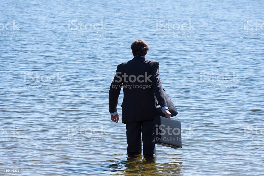 Suicide. Businessman stock photo