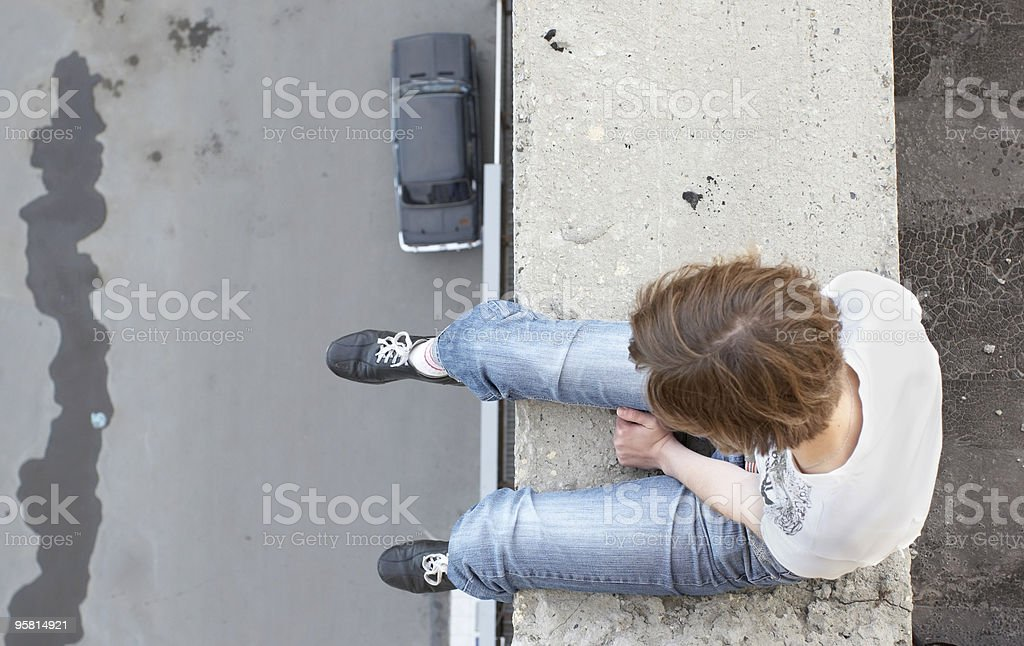 suicide girl stock photo
