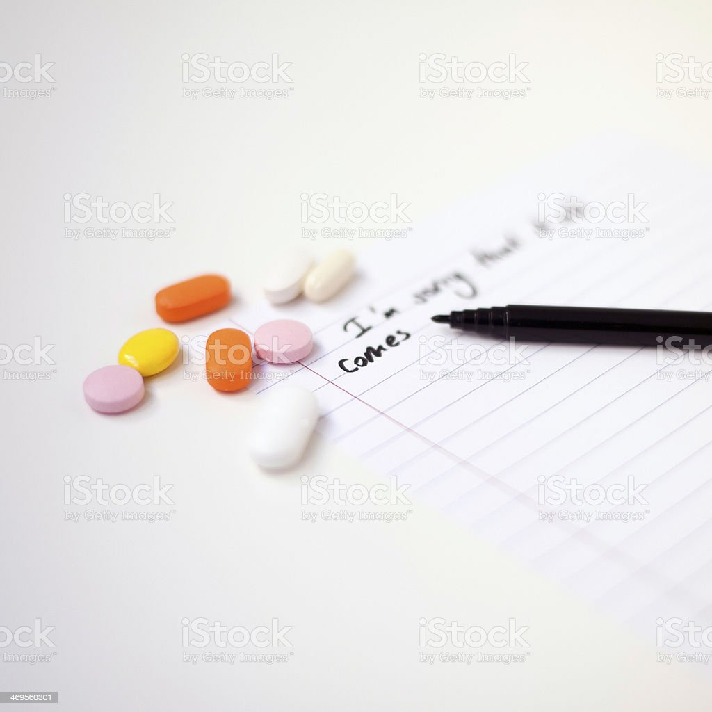 Suicide Note royalty-free stock photo