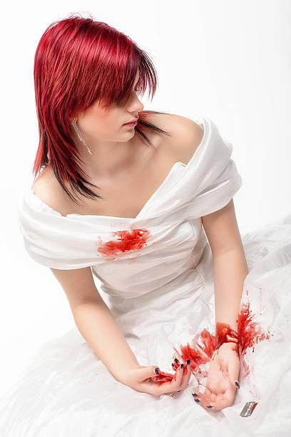 selbstmord - hochzeitskleider wien stock-fotos und bilder