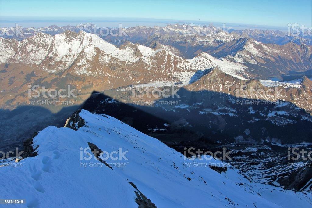 Suisse, les diablerets ( glacier 3000 ) stock photo