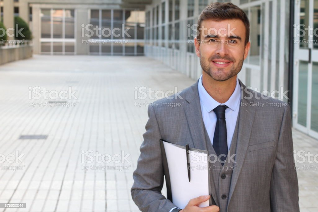 Suit and tie to impress stock photo