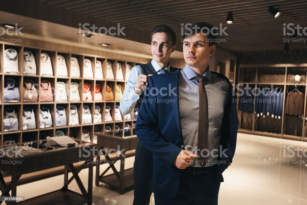 suit fits stock photo