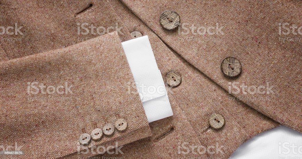 Suit jacket button details stock photo