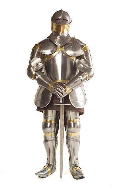 anzug von armour - mittelalterliche ritter stock-fotos und bilder