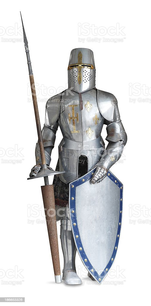 Suit of Armor stock photo