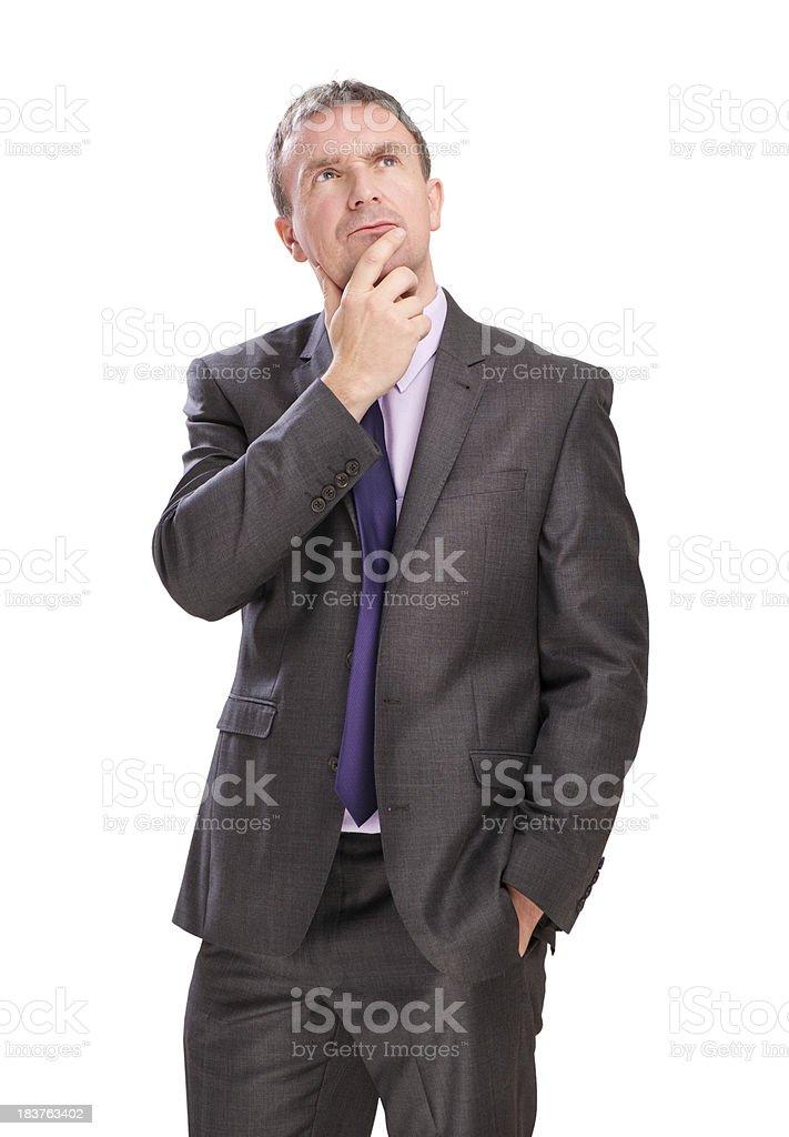 suit thinking royalty-free stock photo