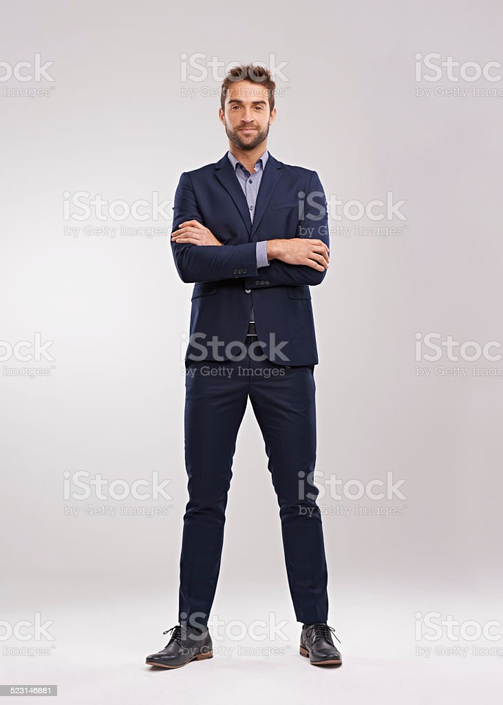 Suit up! stock photo