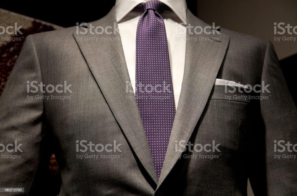 Suit with purple tie stock photo