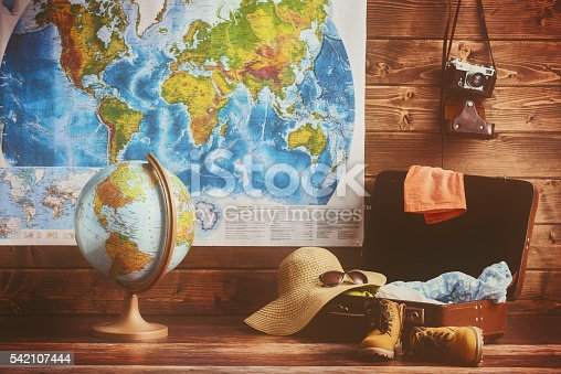 istock suitcase, clothing and accessories 542107444