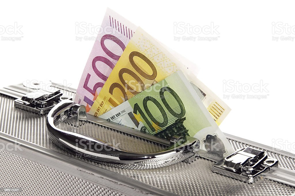 Suitcase from euro royalty-free stock photo