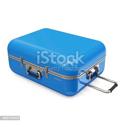 istock Suitcase isolated on white background 533743403