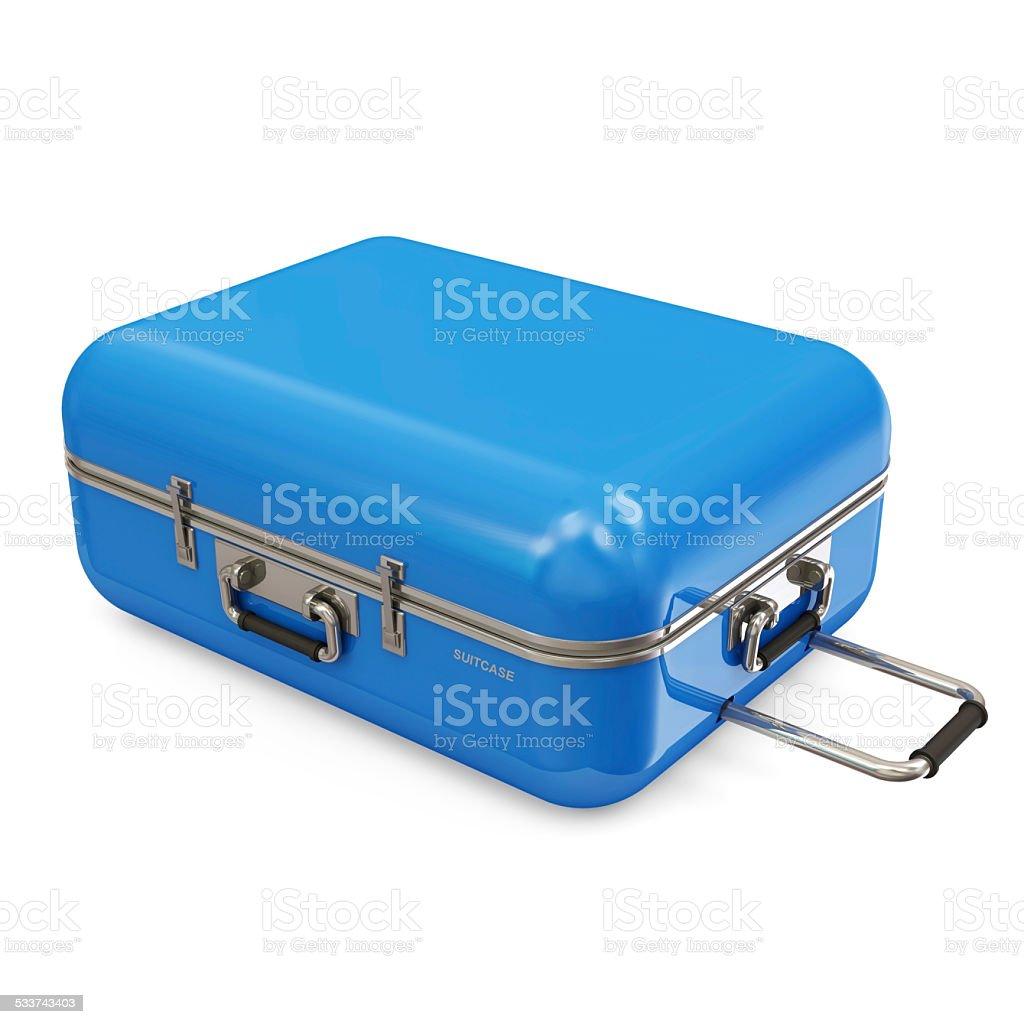 Koffer isoliert auf weißem Hintergrund – Foto