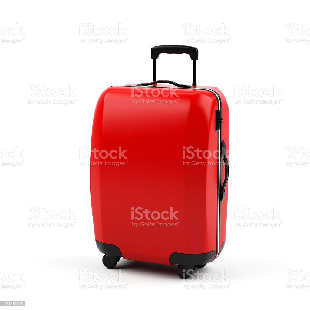 Suitcase isolated on white background stock photo