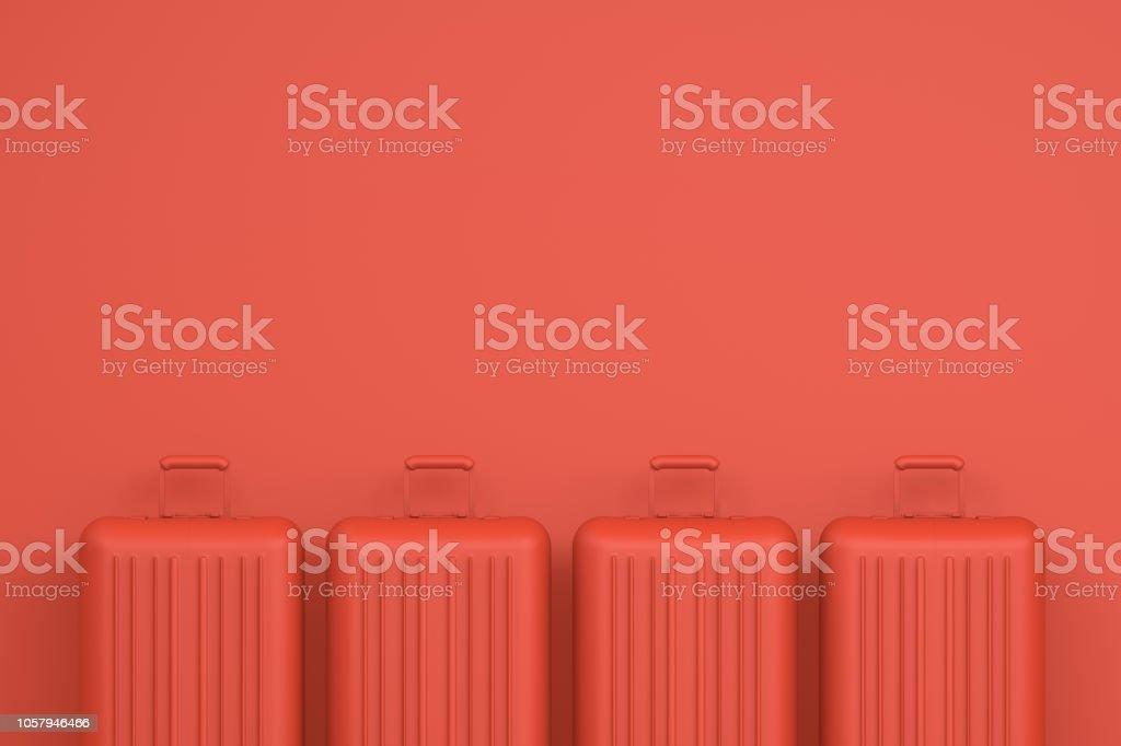Maleta, viaje mínimo concepto foto de stock libre de derechos